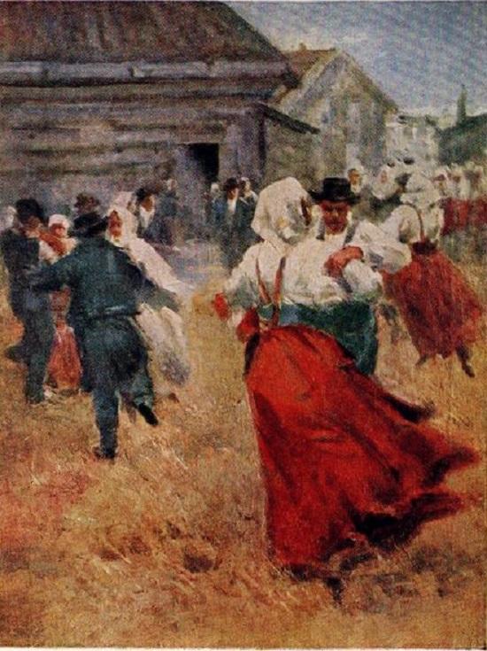 zweedse dansen schilderij